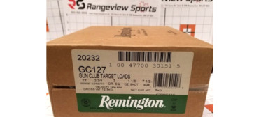 Remington Gun Club Target Load, 12 Ga 2 3/4″ #7.5 Shot 1 1/8oz 1200FPS – 250Rds