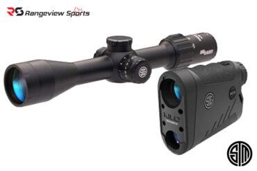 Sig Sauer, Kilo 1400BDX, Sierra 3BDX, 6x20mm LRF, 3.5-10x42mm Riflescope Combo rangeviewsports canada