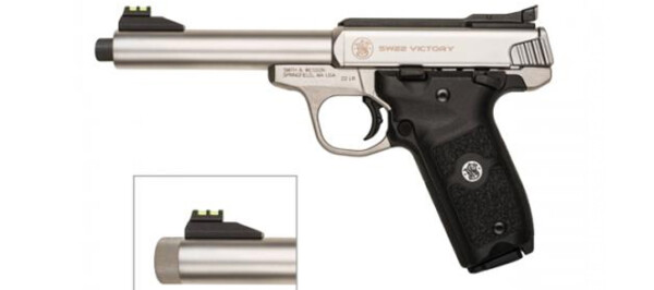 Smith & Wesson SW22 Victory Threaded Barrel .22LR rangeviewsports canada