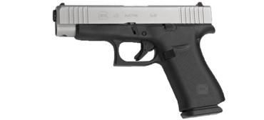 Glock 48 AUSTRIAN Pistol, 9x19mm, Silver Slide, AmeriGlo Bold Sights-left-rangeview-sports-canada
