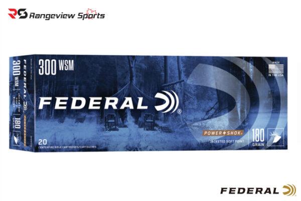 Federal Power·Shok 300 WSM Rifle Ammo, 180Gr SP 2980FPS - 20Rds rangeviewsports canada