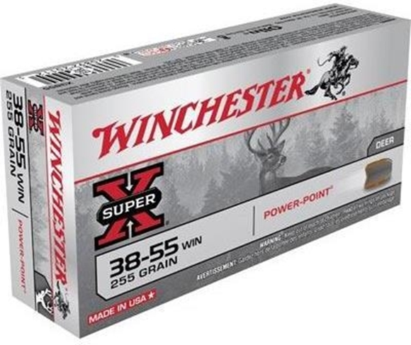 Winchester 38-55 WIN Rifle Ammo, Centrefire 255Gr Power-Point - 20Rds_Rangeview_Sports_Canada_Licensed_Gun_Place_in_Newmarket_GTA_Ontario_Canada