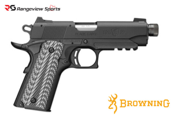 Browning 1911-22 Black Label Compact Pistol with Thread Muzzle, 22 LR Rangeviewsports Canada