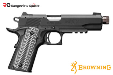 Browning 1911-22 Black Label Pistol with Thread Muzzle, 22 LR Rangeviewsports Canada