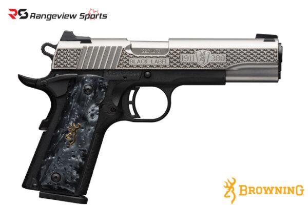 Browning 1911-380 Black Label High Grade Pistol, 380 ACP-rangeviewsports-canada