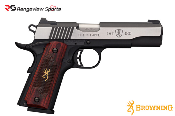 Browning 1911-380 Black Label Medallion Pro Pistol, 380 ACP -rangeviewsports-canada