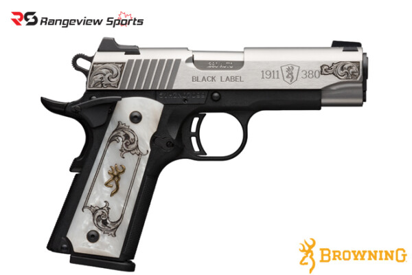 Browning 1911-380 Black Label Medallion Stainless Engraved Pistol, 380 ACP -rangeviewsports-canada