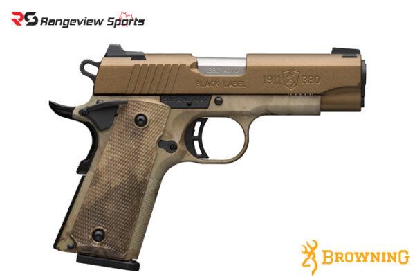 Browning 1911-380 Black Label Speed Pistol, 380 ACP-rangeviewsports-canada