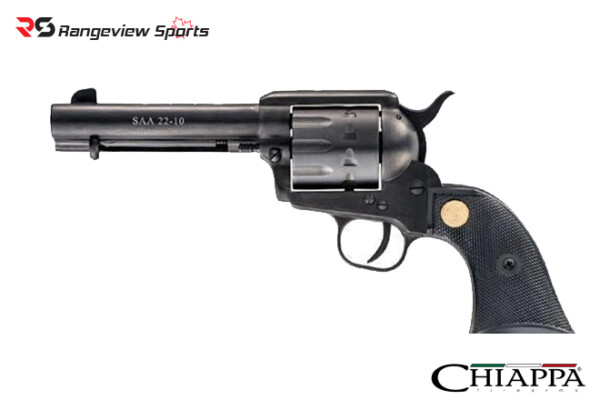 Chiappa 1873 SAA 22-10 Revolver .22LR 4.75″, Black, Restricted-rangeviewsports-canada-1