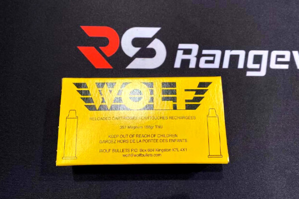 Wolf Bullets 357 Mag Revolver Ammo, 158Gr TMJ - 50Rds Rangeview sports canada