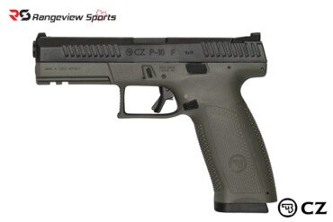 CZ P-10 F Pistol, 9x19mm Night Sights OD Green Rangeviewsports Canada