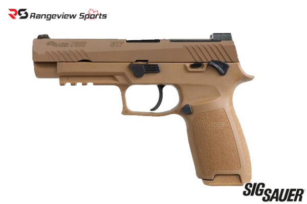 Sig Sauer P320-M17 Pistol, 9mm Coyote Tan with Manual Safety Rangeviewsports Canada