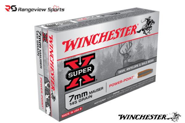 Winchester Super-X 7mm Mauser Rifle Ammo, 145Gr JSP – 20Rds Rangeviewsports Canada