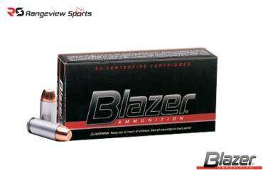 Blazer Aluminum 40 S&W Pistol Ammo, 165Gr FMJ – 50Rds Rangeviewsports Canada