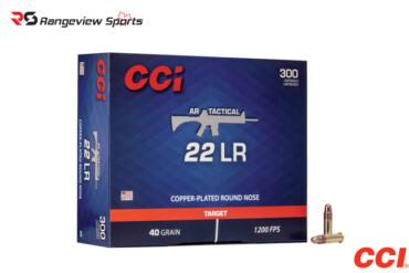 CCI AR Tactical 22 LR Rimfire Ammo, 40Gr CPRN – 300Rds Rangeviewsports Canada