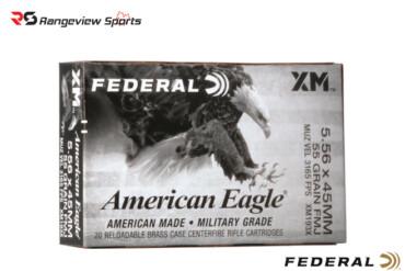 Federal American Eagle 5.56x45mm Rifle Ammo, 55Gr FMJBT – 20Rds Rangeviewsports Canada