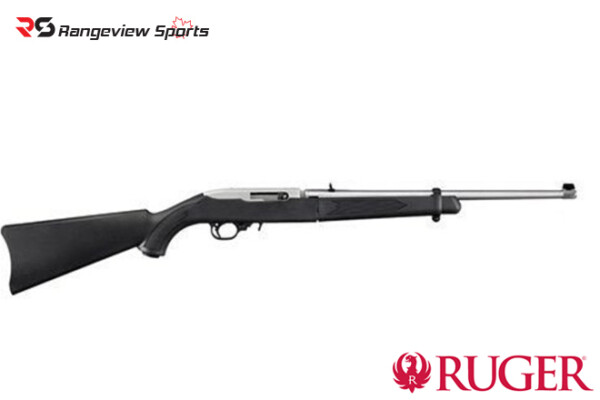 Ruger 10:22 Takedown Stainless Steel Rifle, 22 LR, 18.5″, Black -Rangeviewsports Canada