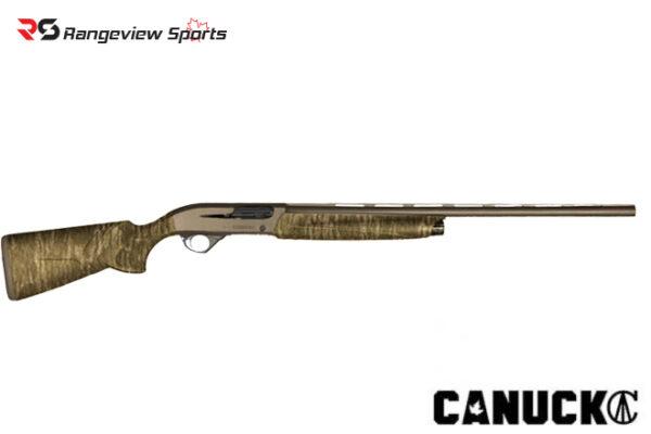 Canuck Elite Shotgun, 3 1:2″ 12Ga 28″ Barrel Bronze Cerakote & Bottomland Camo. Rangeviewsports Canada