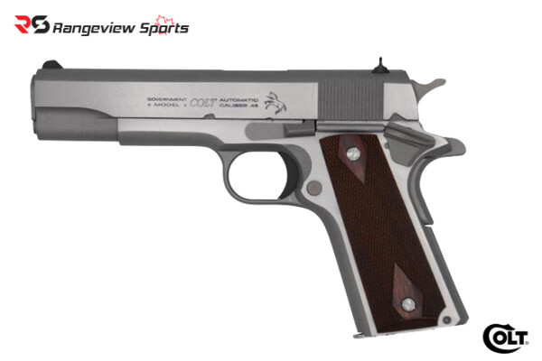 Colt 1911 Classic SS Pistol, Stainless in 45 ACP Rangeviewsports Canada