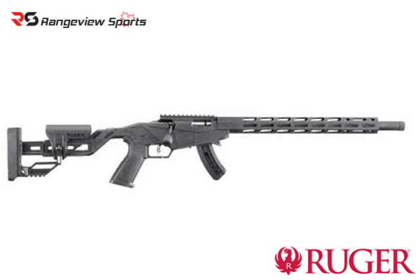 Ruger 17 HMR Precision Bolt Action Rifle w: Quick Fit Adjustable Stock - Black Rangeviewsports Canada