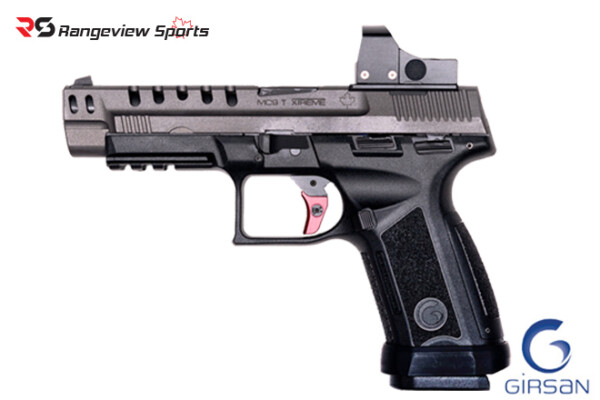Girsan MC9T Extreme Pistol Red Dot Combo, Canadian Edition 9mm 5″ Barrel Rangeviewsports Canada