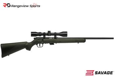 Savage Mark II FXP Rifle w/Mounted Scope, 22 LR 21″ Barrel