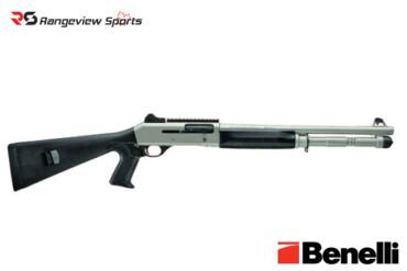 Benelli M4 Tactical Shotgun with Pistol Grip Stock & Titanium Cerakote, 3″ 12Ga 18.5″ Barrel Rangeviewsports Canada