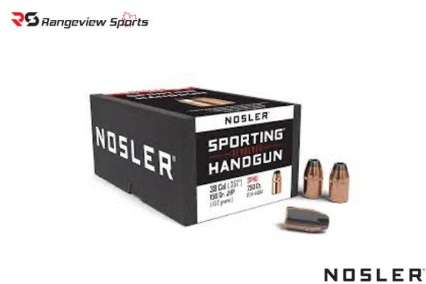 Nosler Sporting Handgun Revolver Bullets .44 cal .429″ JHP 200 gr – 250ct Rangeviewsports Canada