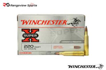 Winchester Super X 220 Swift 50 Gr, 3870 FPS, JSP – 20 Rds Rangeviewsports Canada