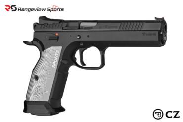 CZ-75 TS2 Pistol, Black:Silver 9mm 5.28″ Barrel Rangeviewsports Canada