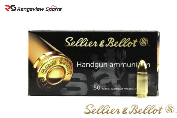 Sellier & Bellot 9mm Pistol Ammo, 124Gr FMJ – 1000Rds Rangeviewsports Canada