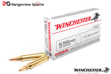 Winchester 5.56 NATO 55gr. FMJ M193 20rds- rangeviewsports canada